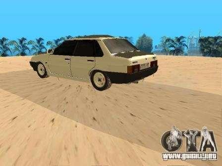 VAZ 21099 invierno para GTA San Andreas vista posterior izquierda