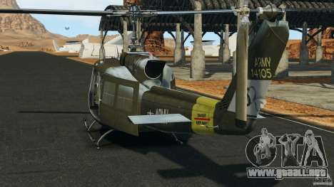 Bell UH-1 Iroquois para GTA 4 Vista posterior izquierda