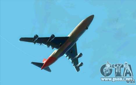 Boeing Qantas 747-400 para GTA San Andreas vista hacia atrás