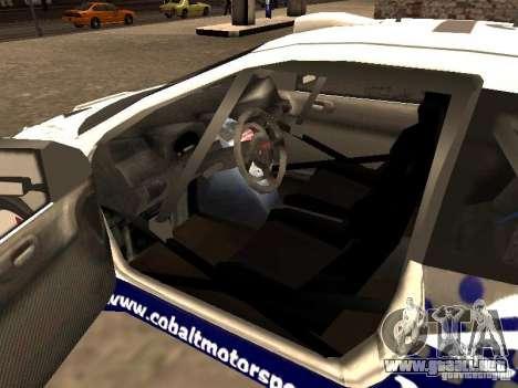 Peugeot 206 WRC de Richard Burns Rally para GTA San Andreas vista posterior izquierda