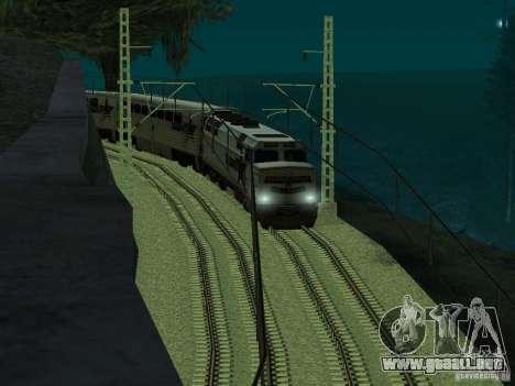 Línea ferroviaria de alta velocidad para GTA San Andreas sucesivamente de pantalla