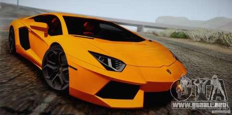 Lamborghini Aventador LP700-4 Final para la vista superior GTA San Andreas