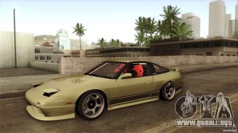 Nissan 240SX S13 Drift Alliance para vista lateral GTA San Andreas