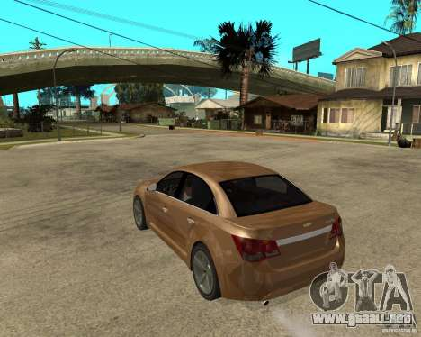 Chevrolet Cruze para GTA San Andreas left