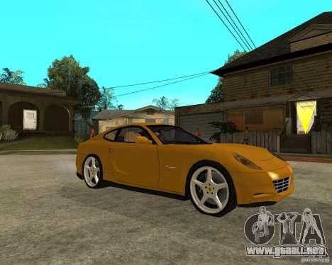 Ferrari 612 Scaglietti para la visión correcta GTA San Andreas