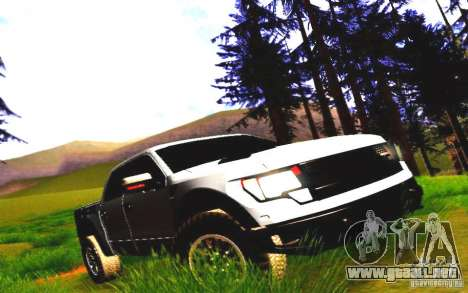 Ford Raptor Crewcab 2012 para GTA San Andreas left
