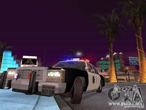Ford LTD Crown Victoria Interceptor LAPD 1985 para visión interna GTA San Andreas
