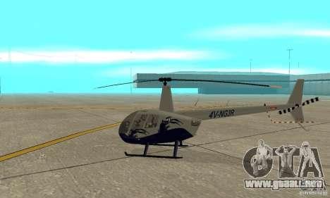 Robinson R44 Raven II NC 1.0 piel 4 para GTA San Andreas vista posterior izquierda