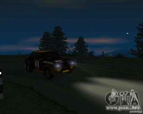 Fiat 131 Rally para GTA San Andreas vista hacia atrás