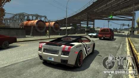 Lamborghini Gallardo LP560-4 [EPM] para GTA 4 Vista posterior izquierda