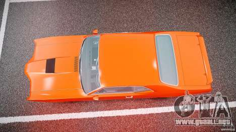 Mercury Cyclone Spoiler 1970 para GTA 4 vista superior