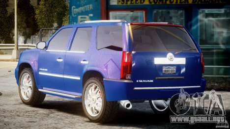 Cadillac Escalade [Beta] para GTA 4 Vista posterior izquierda