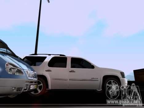 Chevrolet Tahoe LTZ 2013 para GTA San Andreas vista hacia atrás
