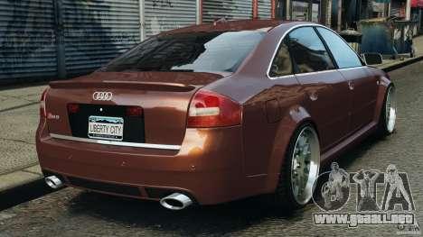 Audi RS6 2003 para GTA 4 Vista posterior izquierda