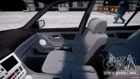 BMW 750i v1.5 para GTA 4 vista hacia atrás