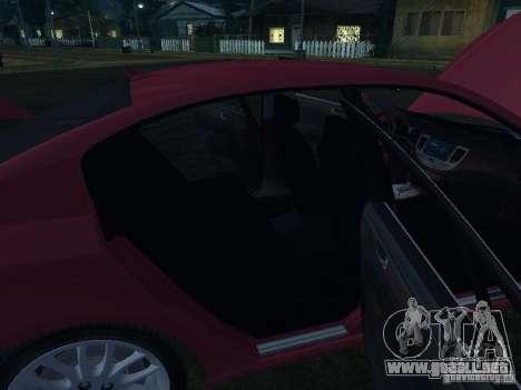 Hyundai Genesis para vista inferior GTA San Andreas