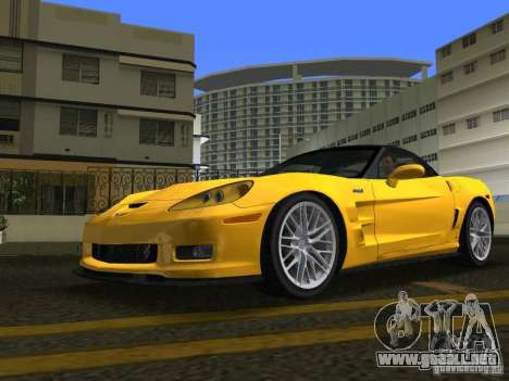 Chevrolet Corvette ZR1 para GTA Vice City visión correcta