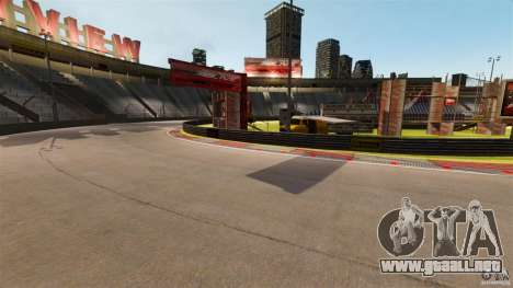 Hazyview Eight Drift Map para GTA 4 adelante de pantalla