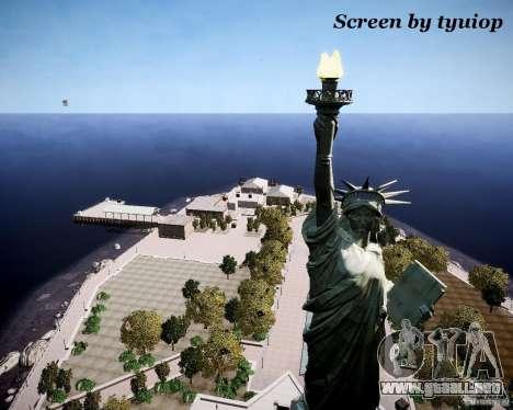 New Statue of Liberty para GTA 4 tercera pantalla