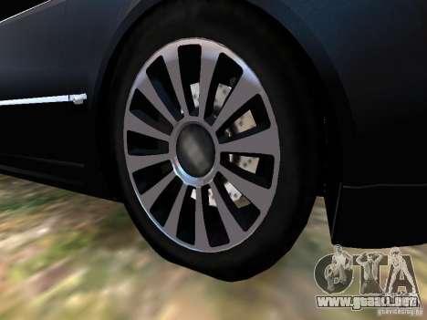 Audi A8L W12 para GTA 4 vista desde abajo