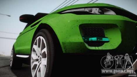 Land Rover Range Rover Evoque v1.0 2012 para GTA San Andreas left