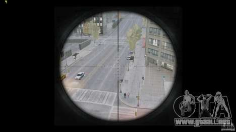 RSASS de MW3 (francotirador) para GTA 4 quinta pantalla