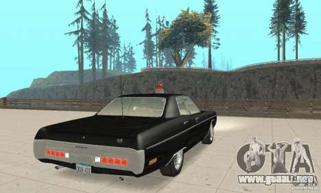 Plymouth Fury III Police para GTA San Andreas left