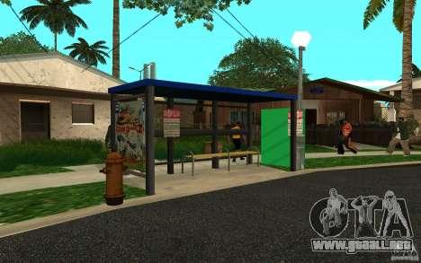 Nueva parada de autobús para GTA San Andreas tercera pantalla