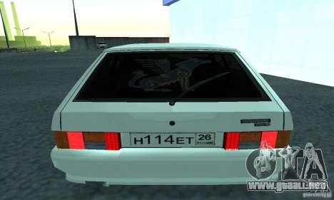 VAZ-2114 para GTA San Andreas vista posterior izquierda