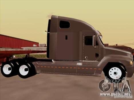 Freightliner Century ST para GTA San Andreas vista posterior izquierda