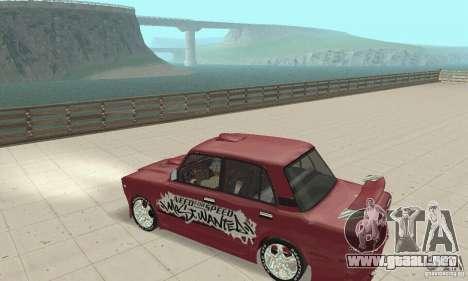 VAZ 2107 Ex Tuning para la visión correcta GTA San Andreas