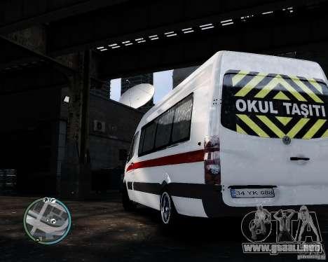 Volkswagen Crafter Turkish Schoolbus para GTA 4 visión correcta