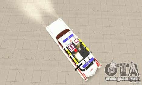 Ghostbusters ECTO 1 para GTA San Andreas vista posterior izquierda