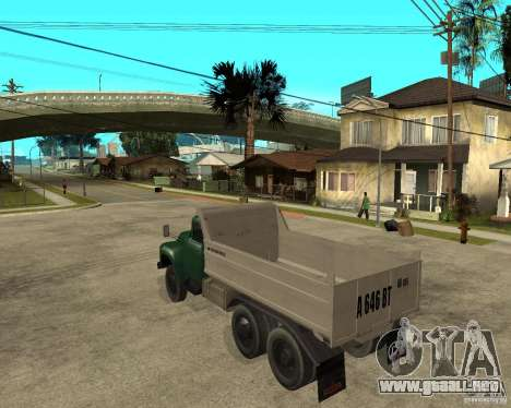 Camión ZIL 133 para GTA San Andreas left