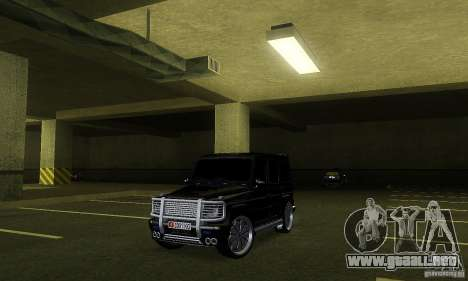 Mercedes Benz G500 ART FBI para GTA San Andreas left