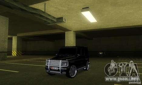 Mercedes Benz G500 ART FBI para GTA San Andreas left