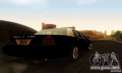 Ford Crown Victoria Wyoming Police para GTA San Andreas left