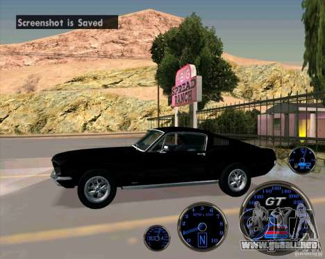 Ford Mustang Fastback para GTA San Andreas left