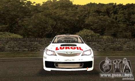 Subaru Impreza WRX STi Russia Rally para la vista superior GTA San Andreas