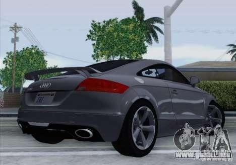 Audi TT-RS Coupe para GTA San Andreas vista posterior izquierda