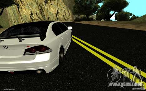 Honda Civic Type R para GTA San Andreas left