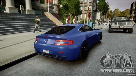 Aston Martin V8 Vantage V1.0 para GTA 4 vista lateral