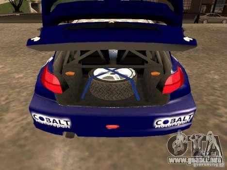 Peugeot 206 WRC de Richard Burns Rally para GTA San Andreas vista hacia atrás
