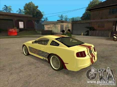 Ford Mustang Jade from NFS WM para GTA San Andreas vista posterior izquierda