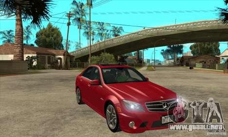 Mercedes-Benz C63 AMG 2010 para el motor de GTA San Andreas