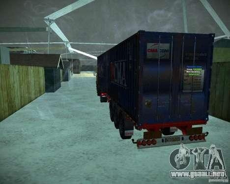 Container para GTA San Andreas vista posterior izquierda