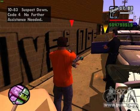 Persiguiendo a las máquinas para GTA San Andreas quinta pantalla