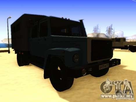 GAZ 3309 doble fila para la visión correcta GTA San Andreas