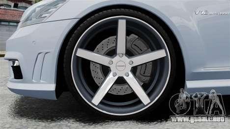 Mercedes-Benz S65 W221 Vossen v1.2 para GTA 4 vista hacia atrás