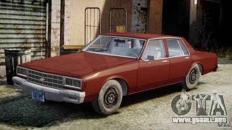 Chevrolet Impala 1983 v2.0 para GTA 4 vista interior